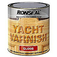 Ronseal Clear Gloss Yacht Varnish 2.5 Litre