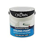 Crown Performance Ceiling Paint Pure Brilliant White 2.5 Litres