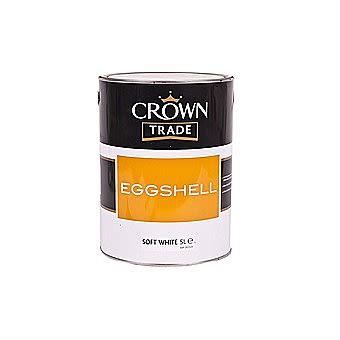 Crown Trade Eggshell Paint White 2.5 Litre