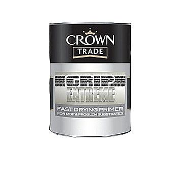 Crown Fast Drying MDF Primer In White 1 Litre Tin