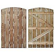 Vertical Board Round Top Gate 1800 x 900mm