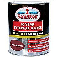 Sandtex 10 Year Exterior Gloss - Classic Burgundy 750ml