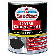 Sandtex 10 Year Exterior Gloss - Charcoal Black 750ml