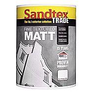 Sandtex 15 Year Exterior Trade Fine Textured Masonry Paint Matt