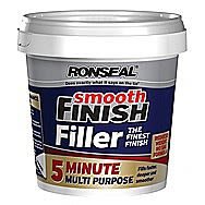 Ronseal 5 Minute Multi-purpose Fine Finish Smooth Filler 600ml