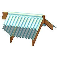 Marvec Corrugated PVC Universal Top Ridge Section