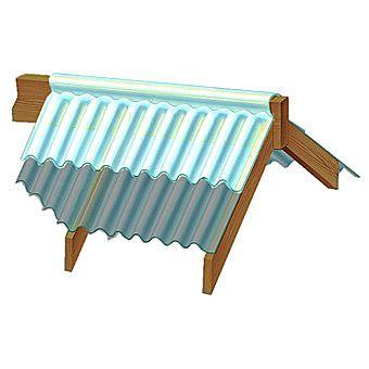 Marvec Corrugated PVC Universal Top Ridge Section