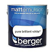 Berger Flat White Matt Emulsion 10 Litre Tin