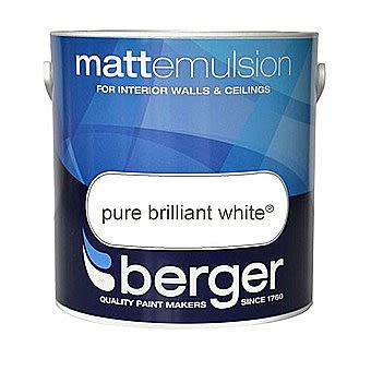 Berger Flat White Matt Emulsion 10 Litre Tin
