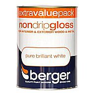 Berger Non Drip Gloss For Wood And Metal 1.25 Litres