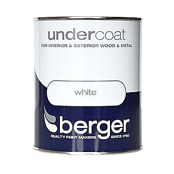 Berger White Interior and Exterior Undercoat White 1.25 Litre