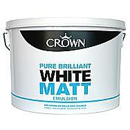 Crown Matt Pure Brilliant White Emulsion 7.5 Litres