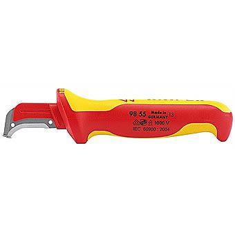 Knipex 36296 155mm Fully Insulated Cable Dismantling Knife