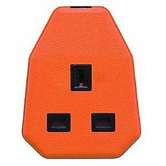 Centurion EL133P 1 Gang Orange Trailing Socket