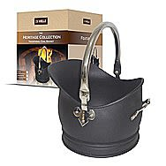 DeVielle DEF761307 Small Black Steel Traditional Coal Bucket