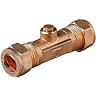 15mm Brass Compression Double Check Valve