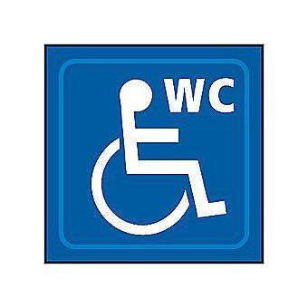 Centurion Disabled WC Graphic Taktyle Braille Sign 150 x 150mm Blue