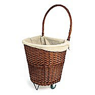 De Vielle Medium Natural Wicker Firelog Cart DEF761055
