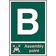 Centurion 1481 Assembly Point B PVC Sign 300 x 200mm