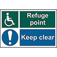 Centurion 1537 Refuge Point Keep Clear Sign 300 x 200mm