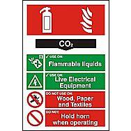 Centurion 1362 Fire Extinguisher Composite CO2 Sign 300 x 200mm