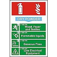 Centurion 1363 Fire Extinguisher Composite Dry Powder Sign 300 x 200mm