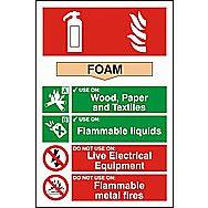 Centurion 1361 Fire Extinguisher Composite Foam Sign 300 x 200mm