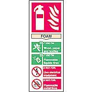 Centurion 1371 Fire Extinguisher Composite Foam Sign 200 x 75mm
