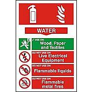 Centurion 1360 Fire Extinguisher Composite Water Sign 300 x 200mm