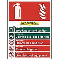 Centurion 1364 Fire Extinguisher Composite Wet Chemical Sign 300 x 200mm