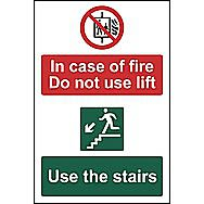 Centurion 1536 In Case of Fire Do not use Lift Sign 200 x 300mm