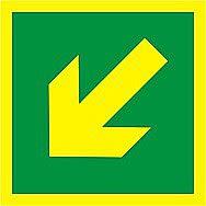 Centurion Diagonal Arrow Symbol Photoluminescent Sign 150 x 150mm