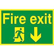 Centurion Fire Exit Tactile Photoluminescent Sign 300 x 200mm