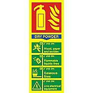 Centurion 1593 Photoluminescent Fire Extinguisher Composite Dry Powder Sign 200 x 75mm