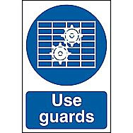 Centurion Safety Use Guards Sign 300 x 200mm