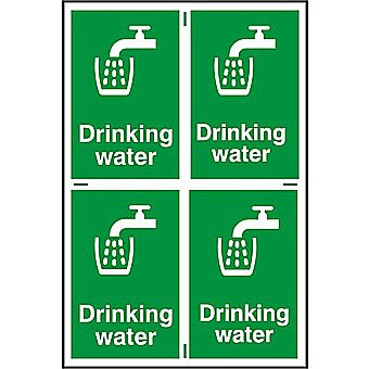 Centurion Drinking Water PVC Sign Pack of 4 150 x 100mm