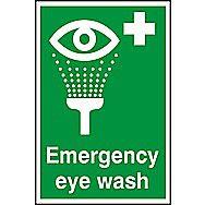 Centurion Emergency Eye Wash PVC Sign 300 x 200mm
