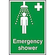 Centurion Emergency Shower PVC Sign 300 x 200mm