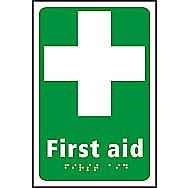 Centurion First Aid Tactile Sign 225 x 150mm