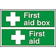 Centurion First Aid Box & First Aid PVC Signs 300 x 100mm