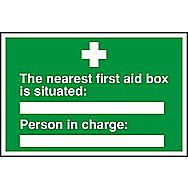 Centurion First Aid Box is Situated Sign 300 x 200mm