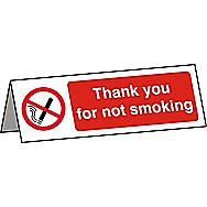 Centurion Thank you for not Smoking Desk Sign 150 x 50mm