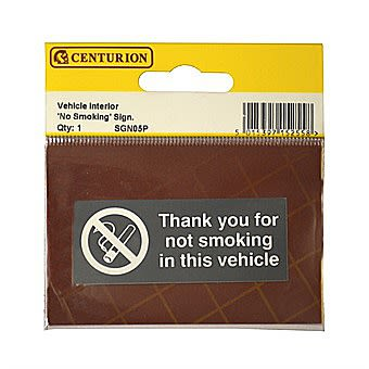 Centurion Vehicle No Smoking Sign 70 x 28mm