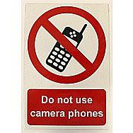 Centurion Do Not Use Camera Phones PVC Sign 300 x 200mm