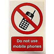 Centurion Do Not Use Mobile Phones PVC Sign 300 x 200mm