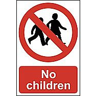 Centurion 4055 No Children PVC Sign 600 x 400mm