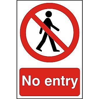 Centurion No Entry PVC Sign 300 x 200mm