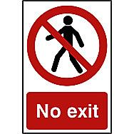 Centurion No Exit PVC Sign 300 x 200mm