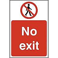 Centurion Rigid PVC No Exit Sign 600 x 400mm