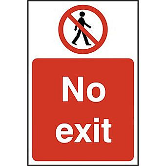 Centurion Rigid PVC No Exit Sign 600 x 400mm